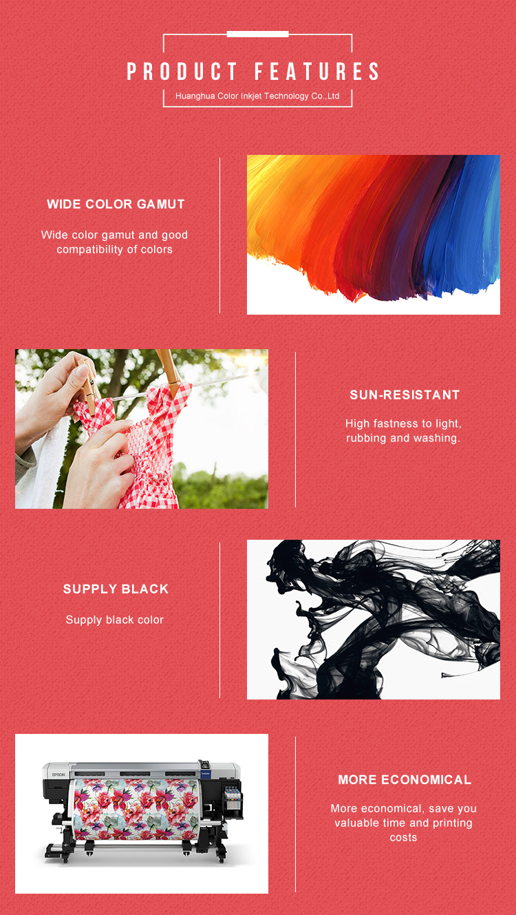 CISS waterproof for inkjet printer printing sublimation transfer ink