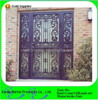 Beautiful Wrought Iron Security Door Grills Design - Buy Iron Main Door  Grill Design,Safety Door Grill Design,Iron Safety Door Design Product on