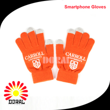 Touch Screen Print Multi-Function Gloves for Smartphones 100% Acrylic Winter Gloves