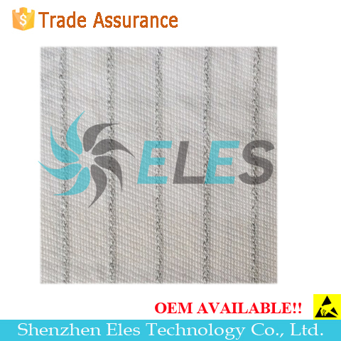 ES01 white cotton jersey fabric for ESD coat