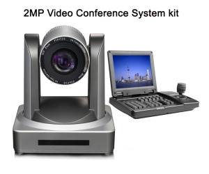 20x Zoom full hd 1080P PTZ 3G-SDI Video Conference kit IP Camera With 3D joystick 8inch TFT LCD Keyboard controller