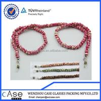 WZ Colorful circular wood beaded eyeglasses chain E138