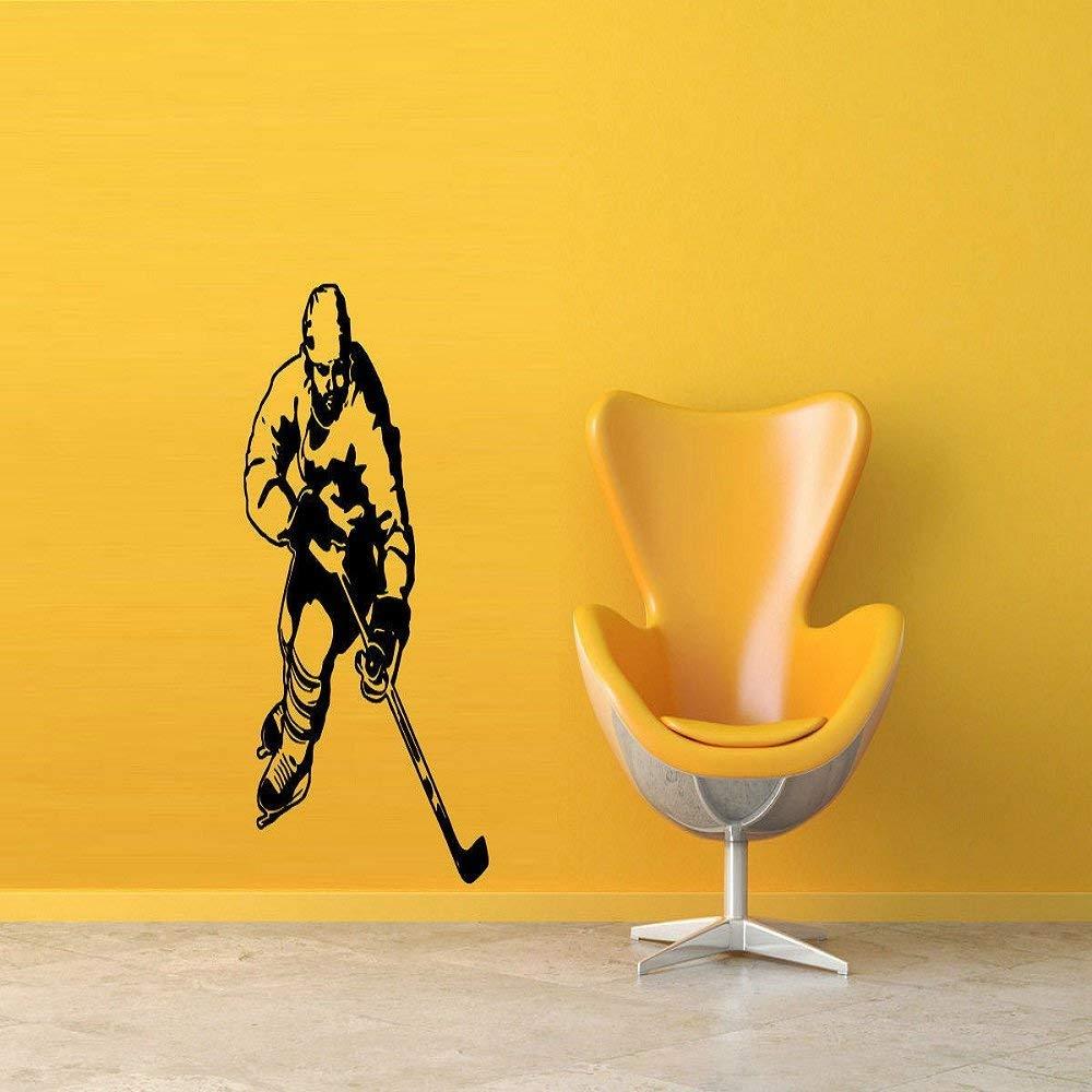 Gift Wall Vinyl Sticker Decals Mural Design Sport Hockey Player At Gym