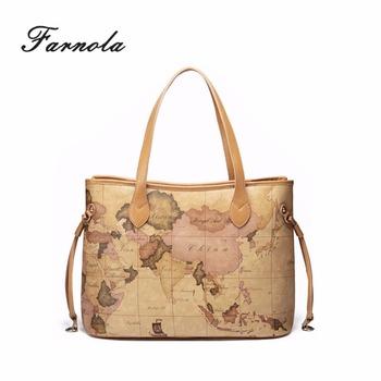a9a60d9c36a1 Asia Map Pu Mix Leather Bags Handbags Women - Buy Bags Handbags