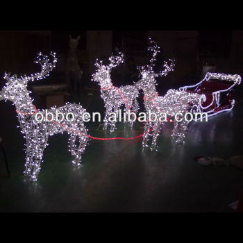 2013 Outdoor Christmas Reindeer And Sleigh Motif