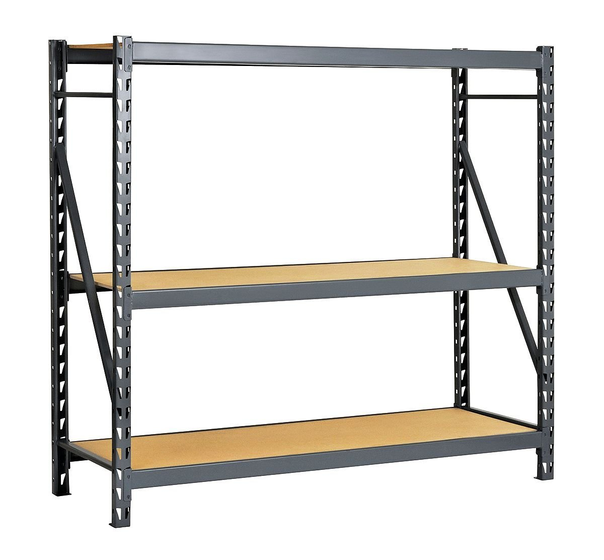 """Edsal ERP603672S E-RACK Bulk Storage Rack with Particle Board Decking, Starter Type, 3 Shelves, 3000 lb. Capacity, 60"""" W x 36"""" D x 72"""" H, Industrial Gray"""