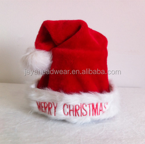 Hot selling teddy bear with red and white color custom christmas hat