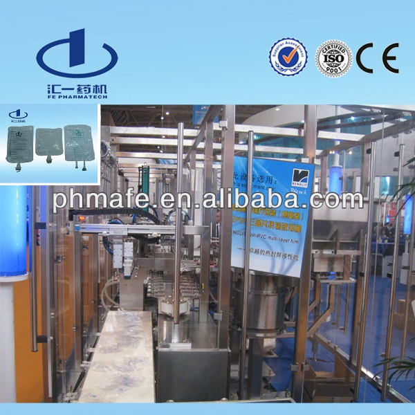 Plastic Bag Saline Solution IV Fluid Making Machine