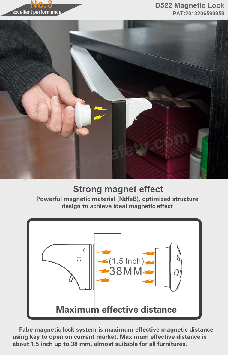 ... OEM Magnetic Baby Child Kids Safety Lock Magnetic Locking System Drawer  Cabinet Cupboard Magnetic Lock With