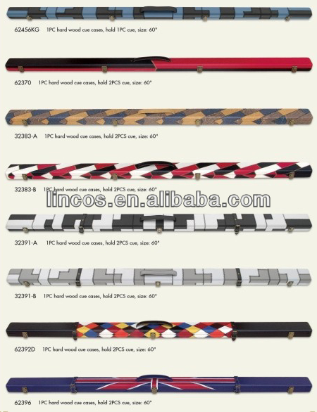 3/4 Hard wood snooker cue case
