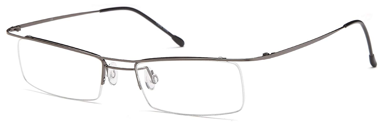 9f39b61cc5 Unisex Ultra Thin Semi-Rimless Glasses Frames Prescription Eyeglasses 49-17- 135