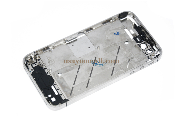 a22443e79d1 Get Quotations · Brand New Middle Frame Housing Chassis Chrome Bezel For iPhone  4S Silver+tools