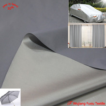 waterproof 172cm width sun UV protection 190T polyester taffeta silver coated fabric for curtain car cover umbrella