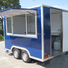 2017 JX-FS300 hot selling fast food bbq fiberglass motorcycle trailer sale