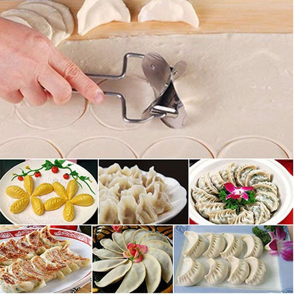 DouFole Useful Press Cookware Dough Maker Stainless Steel Dumpling Pie Mould Kitchen Tool