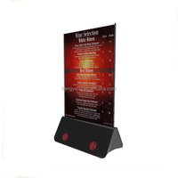 New Invention !!! flashing led light table menu restaurant card display holder stand