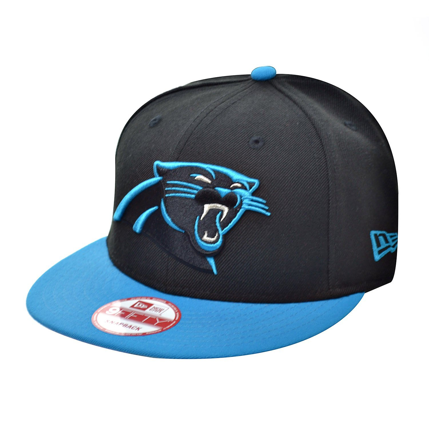 on sale bef8b 93e3b Get Quotations · New Era 950 Carolina Panthers Men s Snapback Hat Cap  Black Sky Blue Silver 70347227