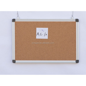 aluminum frame cork fabric felt bulletin notice board