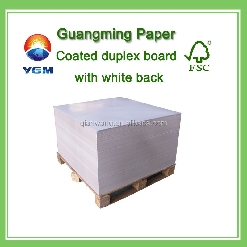 Dongguan lwc paper/ocb paper roll/coated duplex board white back/CCWB