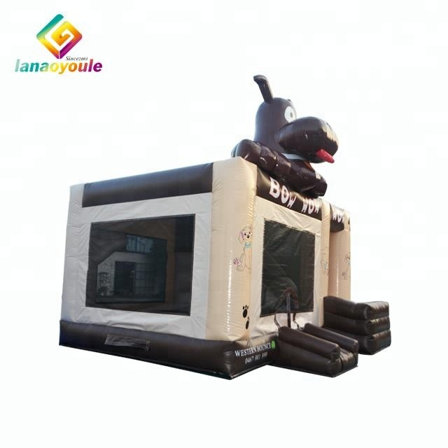 Innovative products 2018 popular customized size animal inflatable combo for kids