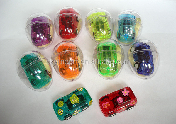 2014 New children's toys capsule Eggshell car toys pull back car toys