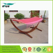 OTLOR Wooden Curved Arc Hammock Stand