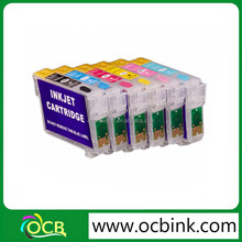 OCBESTJET Refillable Ink Cartridge for epson R2000 with auto reset chip