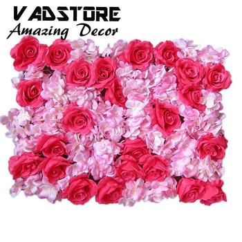 Buatan Rose Bunga Dengan Hydrangea Latar Belakang Dinding Untuk Jalan Dipimpin Pernikahan Buy Bunga Buatan Untuk Dekorasi Dindingdekoratif Dinding