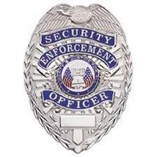 Gold or Silver Style Security Enforcement Officer Guard Uniform Shirt Jacket Metal Badge Shield