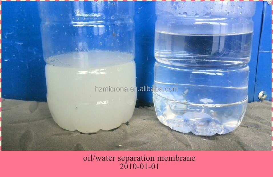 Oil/water membrane separation