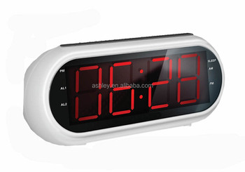 1 8 big digit red led clock pll am fm radio clock for elderly hotel clock buy 1 8 big digit. Black Bedroom Furniture Sets. Home Design Ideas