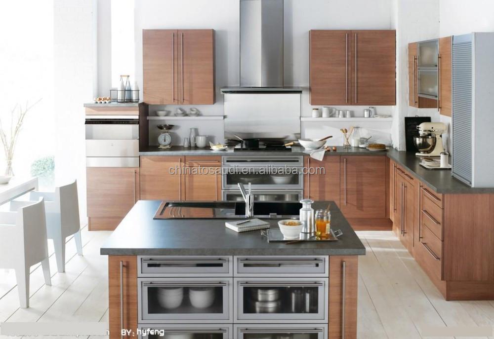 Modern Modular Kitchens Designs Price Kichen Cabinets With Timber Veneer Finish In Wooden Color Buy Modern Kitchen Designs Modular Kitchens Designs Custom