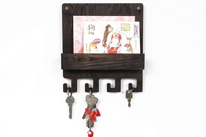 Mail And Key Holder, Key Rack, Key Holder For Wall, Wall Key Holder, Key Hook, Key Hooks, Key Hanger, Wood Shelf, Wall Shelf, Key Holder