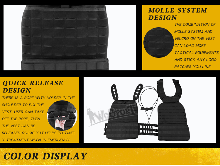 WoSporT Hunting Oxford Tactical Vest MOLLE Protective Plate Carrier Self Defense for Shooting Gun Airsoft Paintball Army Gear CS