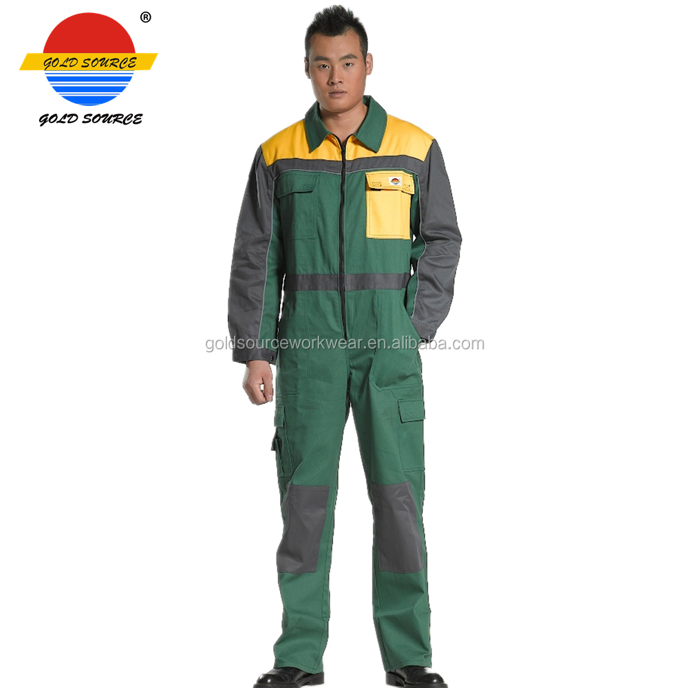 Protective Suits & Coveralls Men Unisex Reflective Safety Green Boiler Suit Work Coverall Overalls Zip Pocket Shrink-Proof