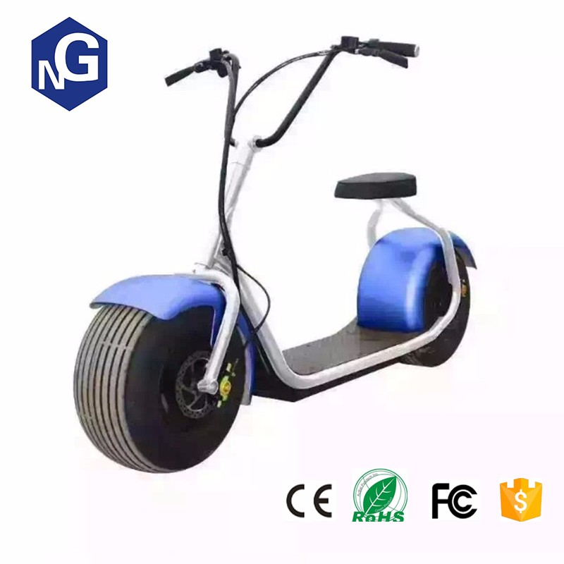 Double seat Citycoco Scrooser with LED light electric motorcycle 1000w industrial 2016 New scooter electric