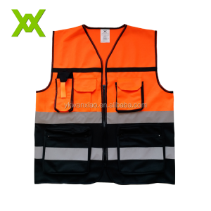ANSI/ISEA 107-2010 Class 2 High Visibility Heavy Duty Deluxe Reflective Safety Vest