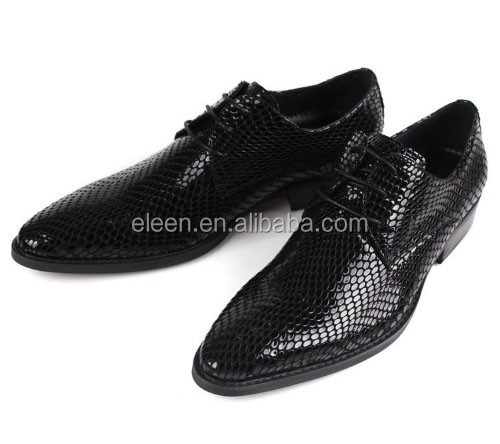 Shined Leather Dress Luxury Shoes Black Man 8zOWZ7