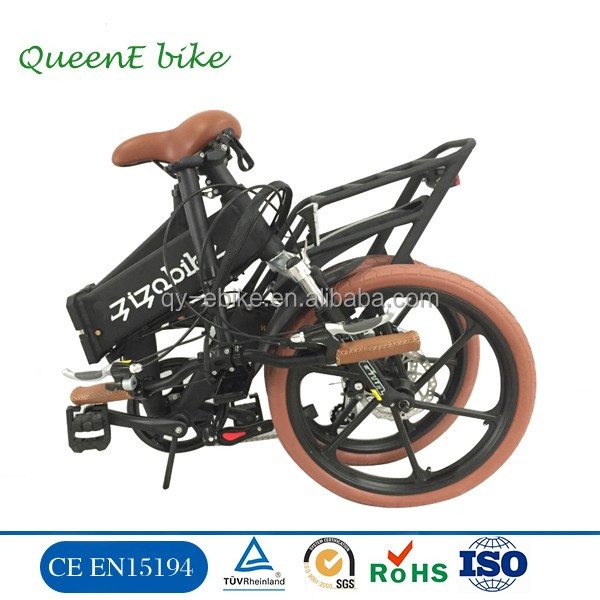 EN15194 approved folding ebike with 250w electric bike full suspension e bicycle