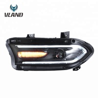 VLAND LED Headlight for Dodge Charger 2015-UP with Turn Signal Head Light High Quality Head Lamp