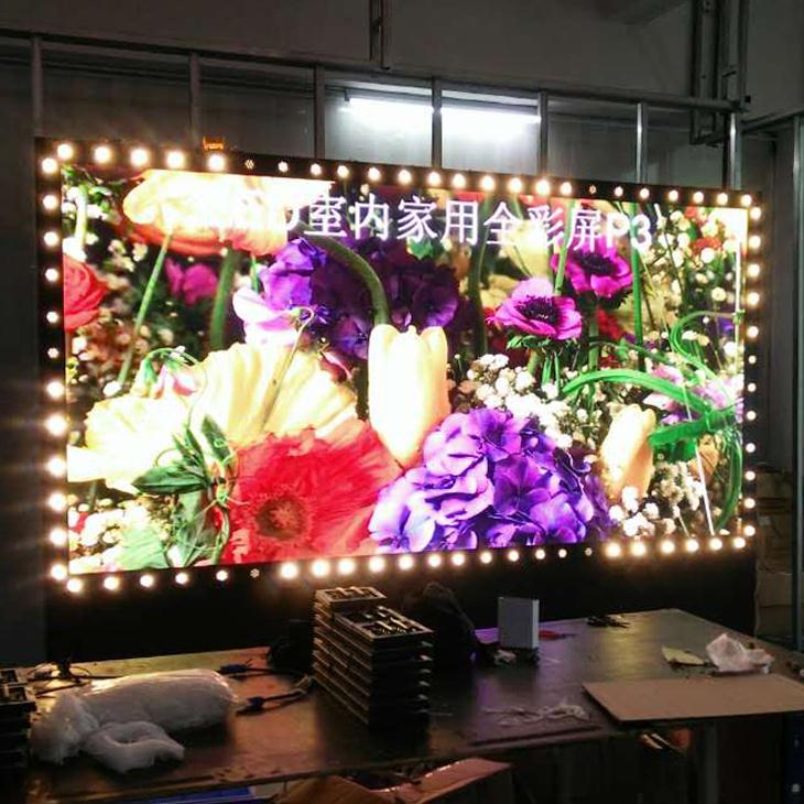 2017 new curtain led module p2.5 p3 p4 p5 indoor aluminum frame
