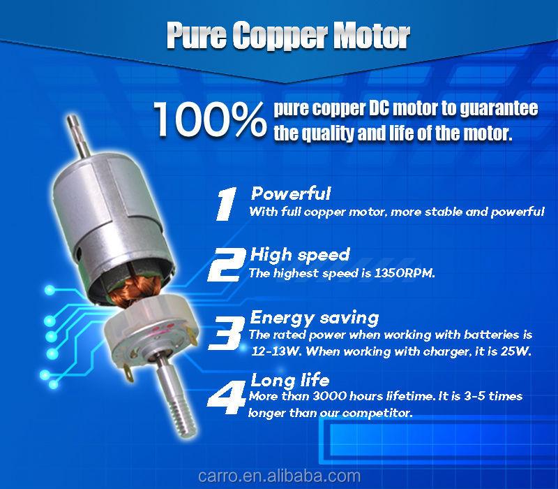 Factory Direct Sale China Rechargeable Fan Dc Fan Motor Remote ...