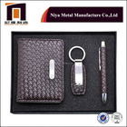 Promotional Gift And Newest Design Promotional Business Box Gift Set Card Holder Keychain And Pen