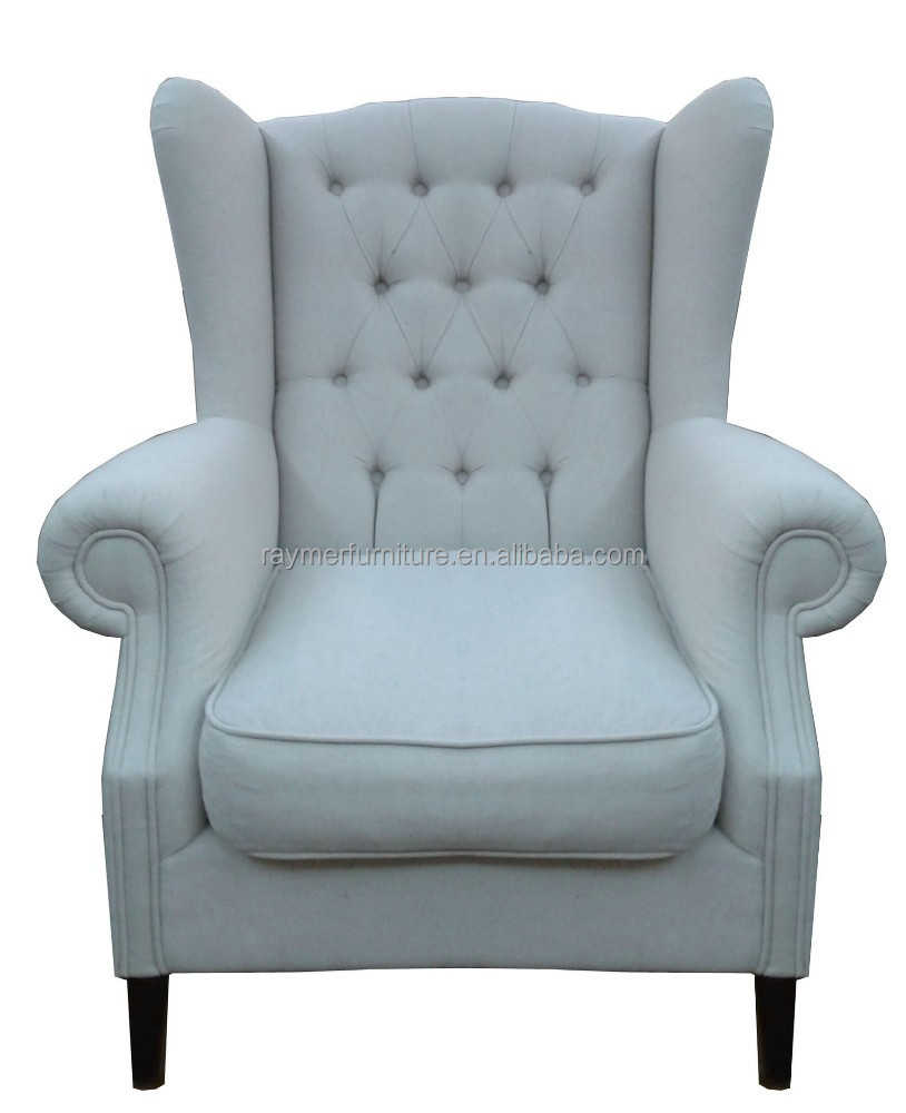 Living Room High Back Tufted Fabric Armchair Wing Chair Buy