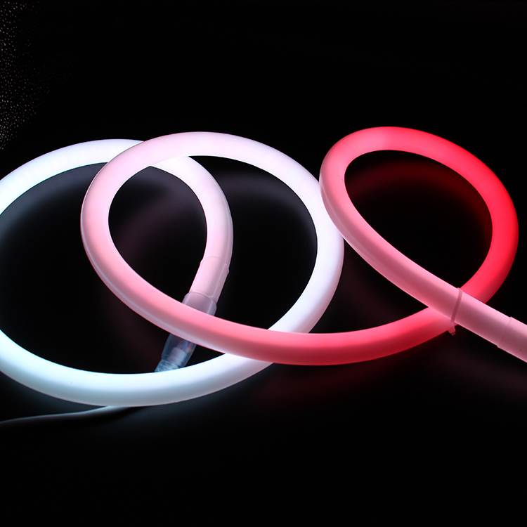 Bendable Led Neon Flex Rope Light 24V Led Strip 360 degree Pixel RGB led_flex_neon customize neon light