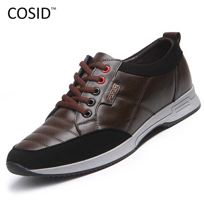 Men Shoes Brand New Mens Fashion Sneakers High-Top Sport Shoes Lace-Up Soft Leather Men Sneakers Men Walking Shoes BRM-318