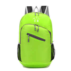 Wholesale custom travel supplies Multicolor Folded cheap backpack bag folding Outdoor Sport shopping pack for promotion gift
