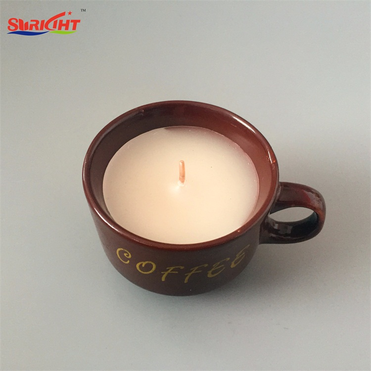 Lighted Christmas Ceramic Filter Pottery Coffee Gold Logo Candle