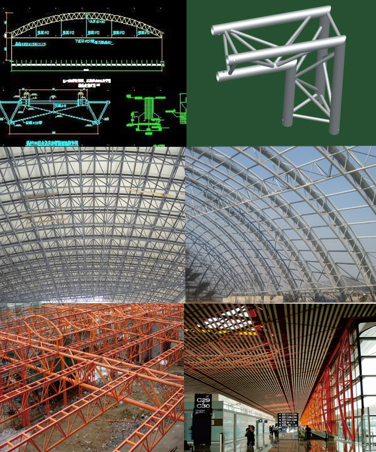 steel round roof truss design