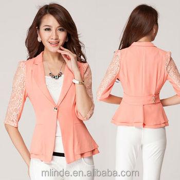 3 4 Renda Lengan Busana Blazer Jaket Untuk Wanita Wanita - Buy 3 4 ... ee20439ddd